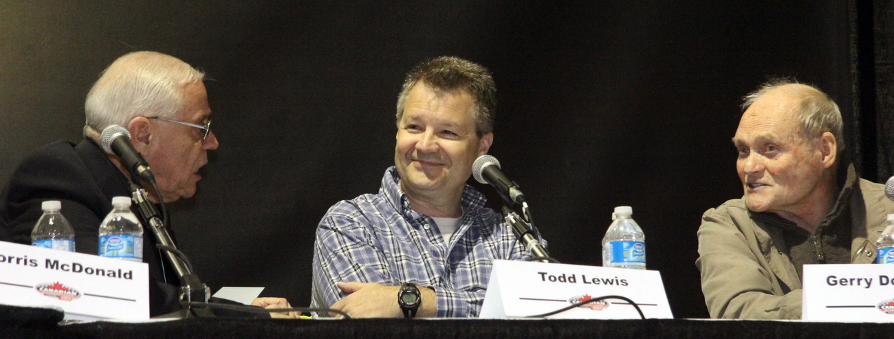 Norris McDonald, Todd Lewis and Gerald Donaldson, in 2012 at the Canadian Motorsports Expo